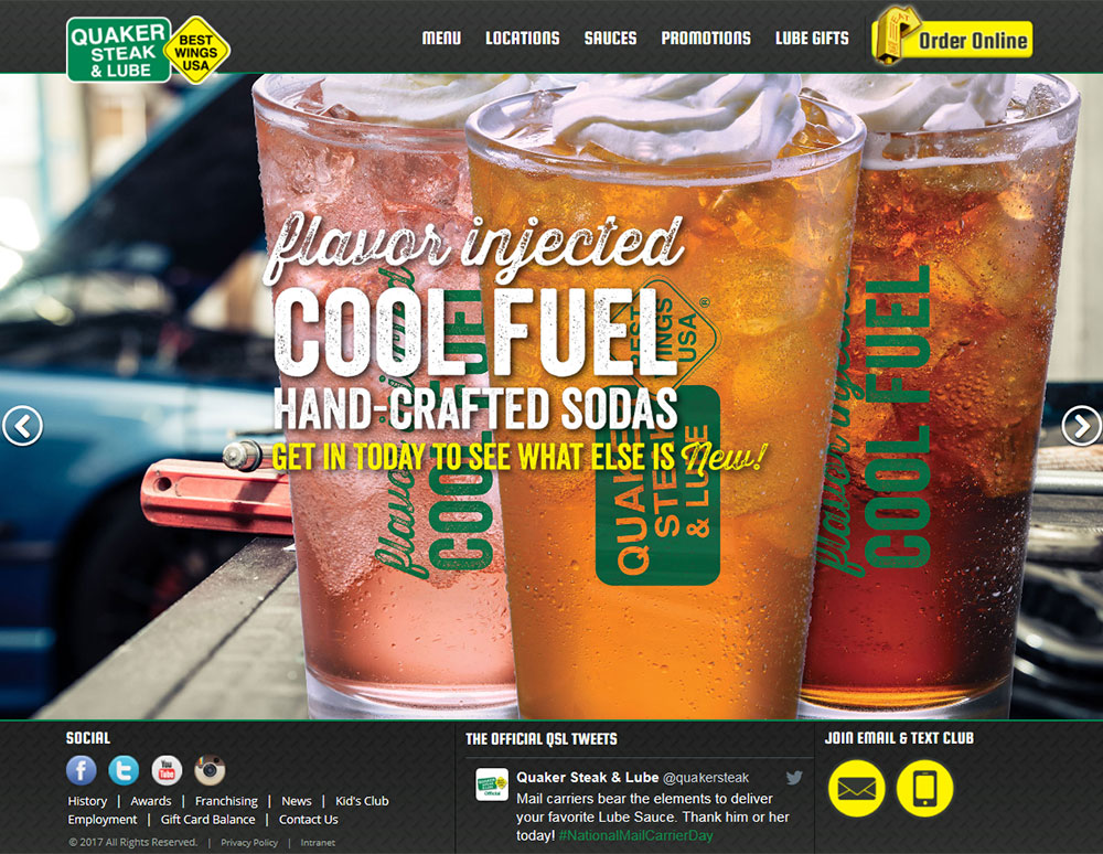 Quaker Steak & Lube Website