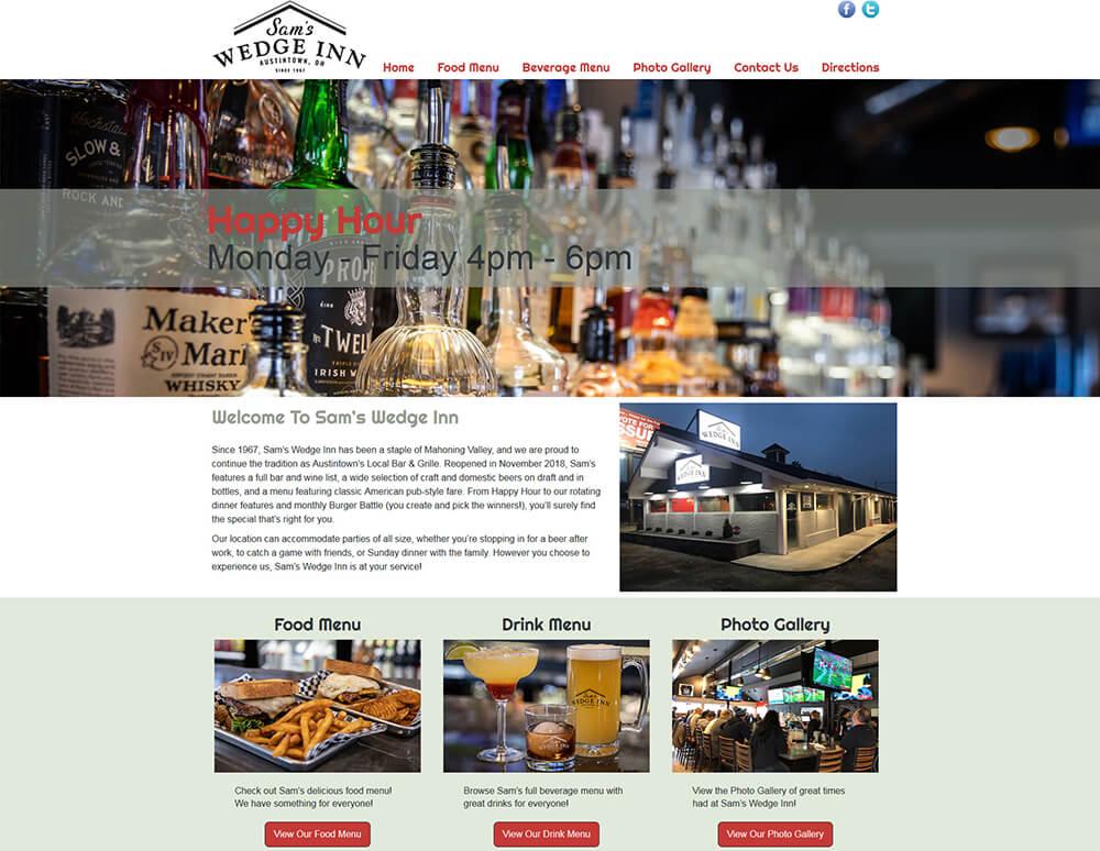 Sam's Wedge Inn Restaurant Website