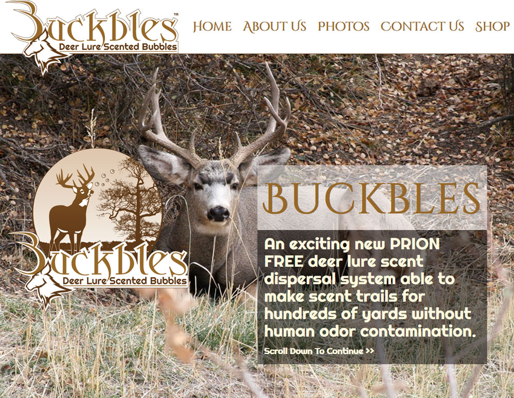 Buckbles: Deer Lure Scented Bubbles