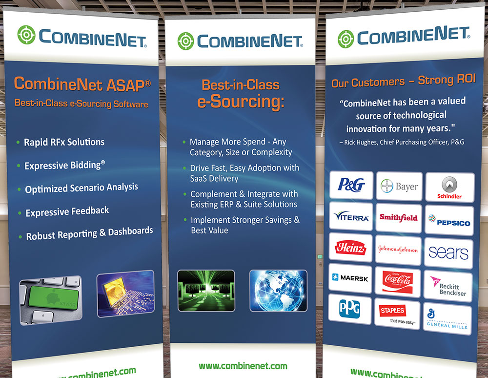 CombineNet Inc. Convention Tradeshow Banner Design