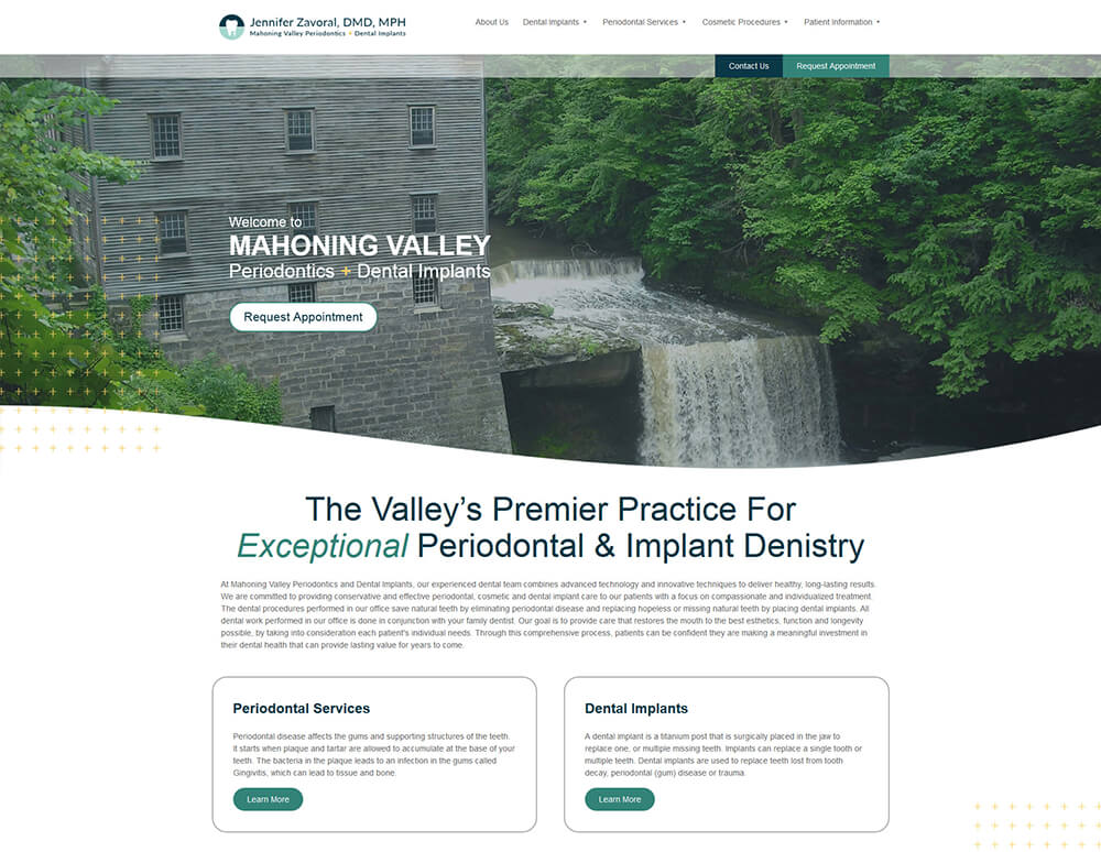 Mahoning Valley Periodontics & Dental Implants Website