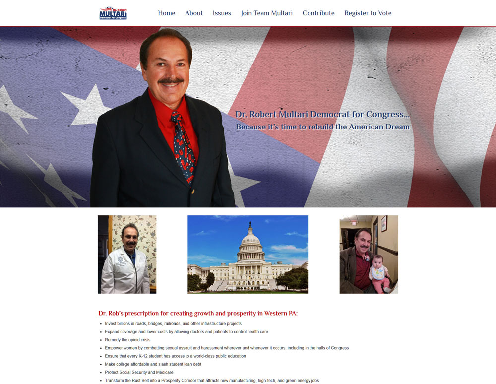Dr. Multari Political Campaign Website